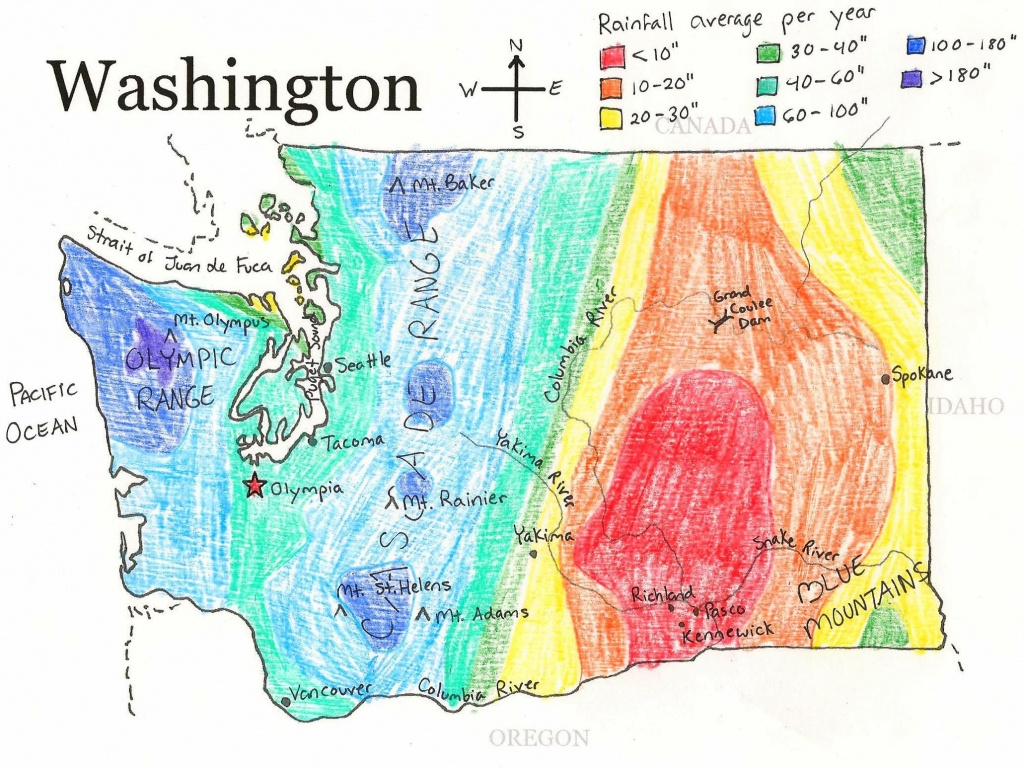 U.s. State Maps | State Studies | Washington State Map, State Map - Printable Map Of Washington State
