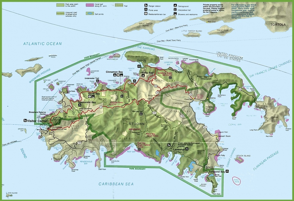 U.s. Virgin Islands Maps | Maps Of United States Virgin Islands - Printable Map Of St John Usvi