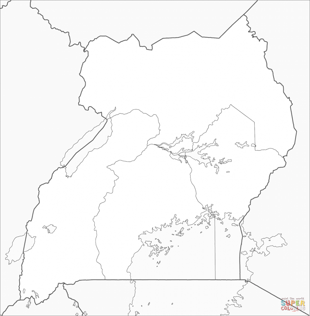 Uganda Map Coloring Page | Free Printable Coloring Pages - Printable Map Of Uganda