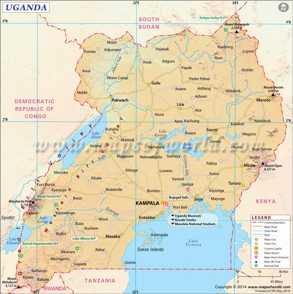 Uganda Map, Map Of Uganda - Printable Map Of Uganda