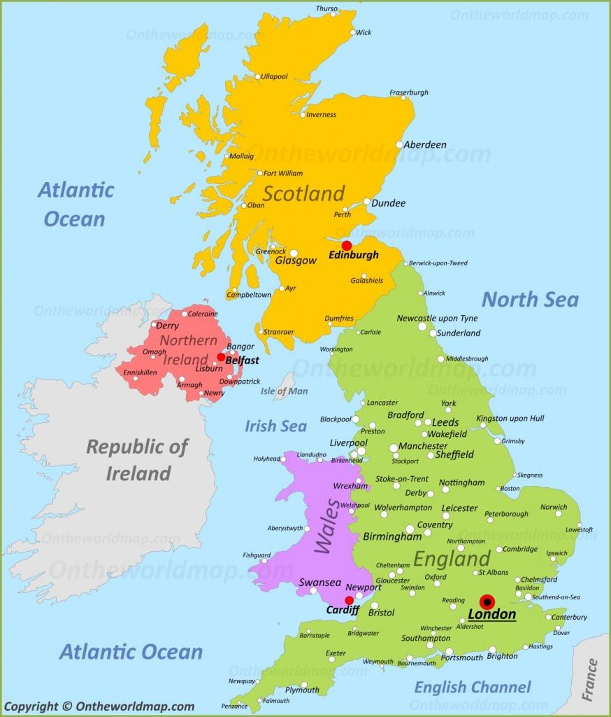 Uk Maps   Maps Of United Kingdom - Free Printable Map Of Uk And Ireland