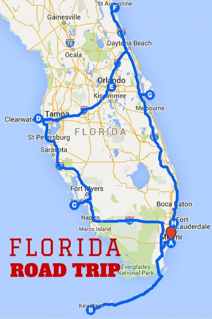 Uncover The Perfect Florida Road Trip | Florida | Road Trip Map - Siesta Key Beach Florida Map