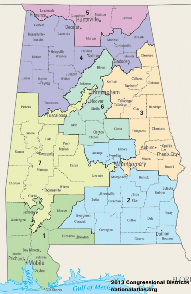 United States Congressional Delegations From Alabama - Wikipedia - Winston California Map