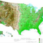 United States Contour Map   Printable Topographic Map Of The United States