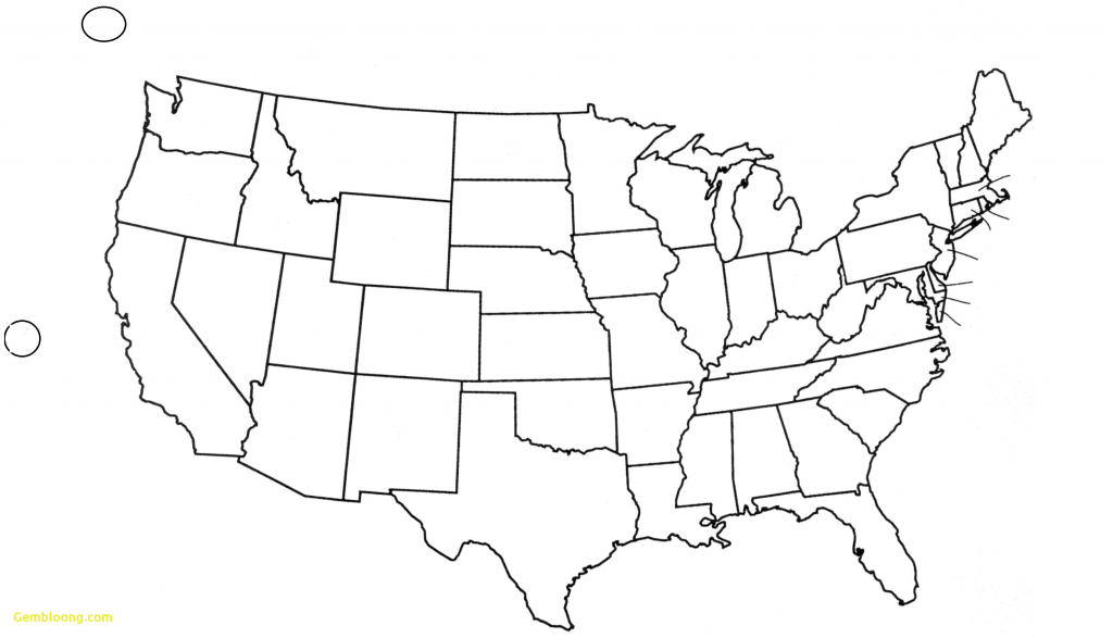United States Map Blank Outline Fresh Free Printable Us With Cities - Free Printable Outline Map Of United States