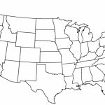 United States Map Blank Outline Fresh Free Printable Us With Cities   Free Printable Usa Map With States