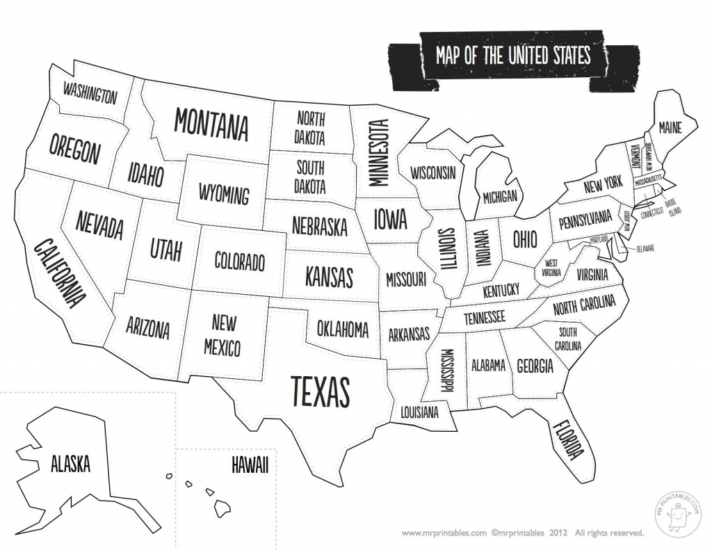 United States Map With State Names And Capitals Printable Save - Printable Usa Map With States
