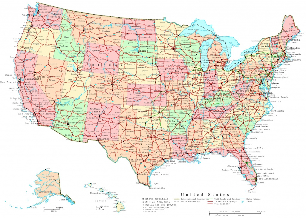 United States Printable Map - Free Printable Map Of The United States