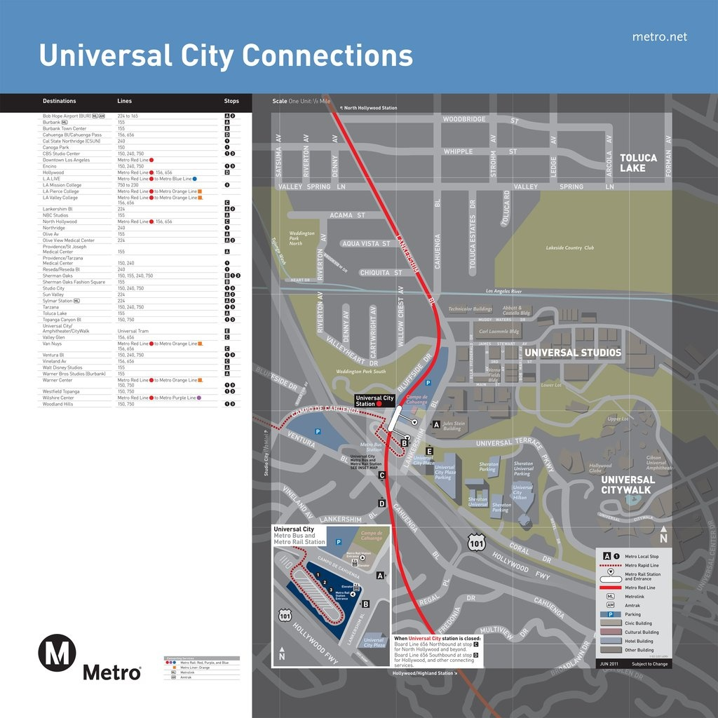 Universal Citywalk Bus Map - Maplets - Universal Citywalk California Map