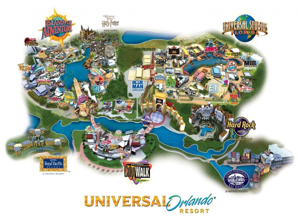 Universal Florida Map And Travel Information | Download Free - Map Of Universal Florida Hotels