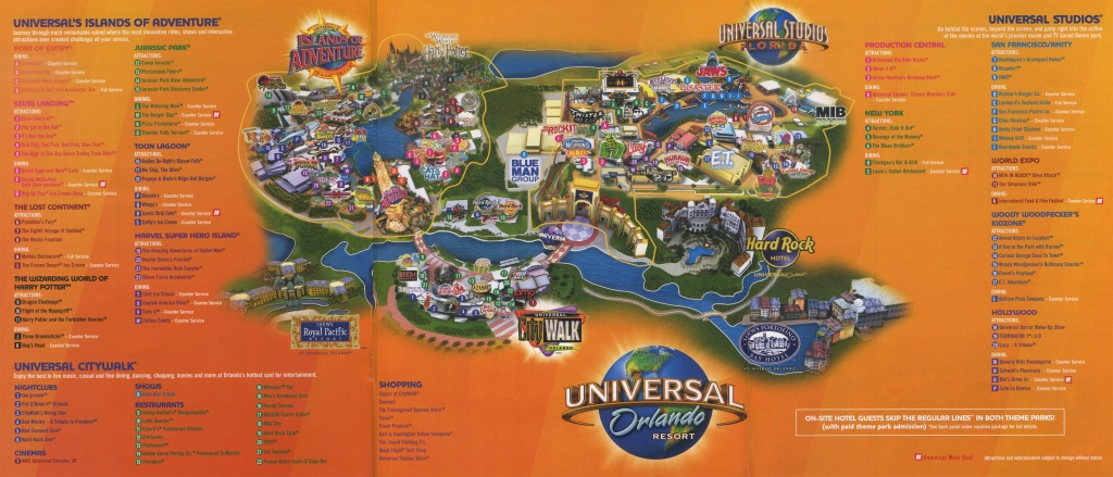 Universal Map - Cyndiimenna - Orlando Florida Universal Studios Map