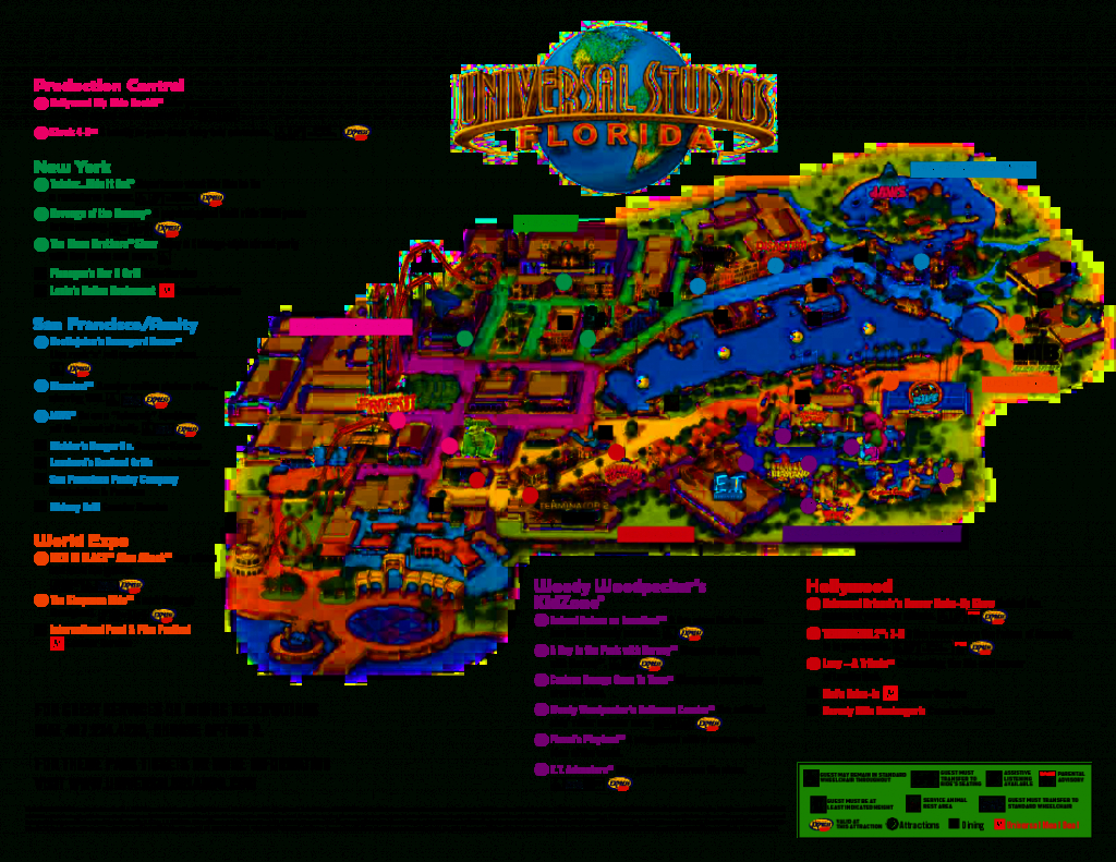 Universal Orlando Park Map 2013   Orlando Theme Park News: Wdw - Orlando Florida Theme Parks Map