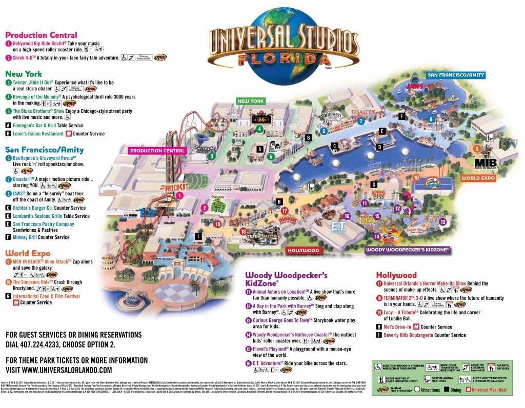 Universal Park Map   Florida Visit Ideas   Universal Studios Florida - Universal Studios Florida Map