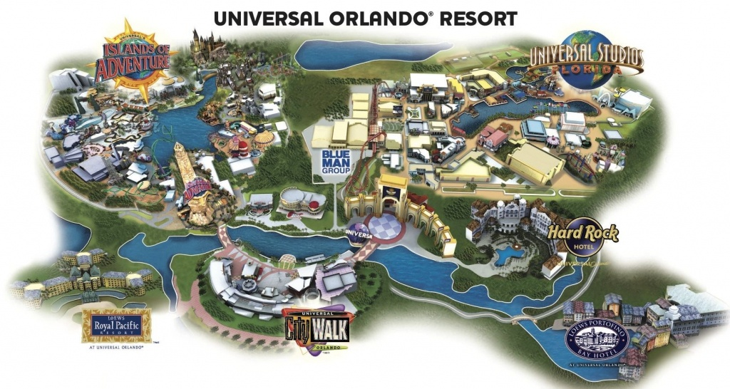 Universal Resort Map. Staying At Hard Rock Hotel Means You're Close - Universal Orlando Florida Map