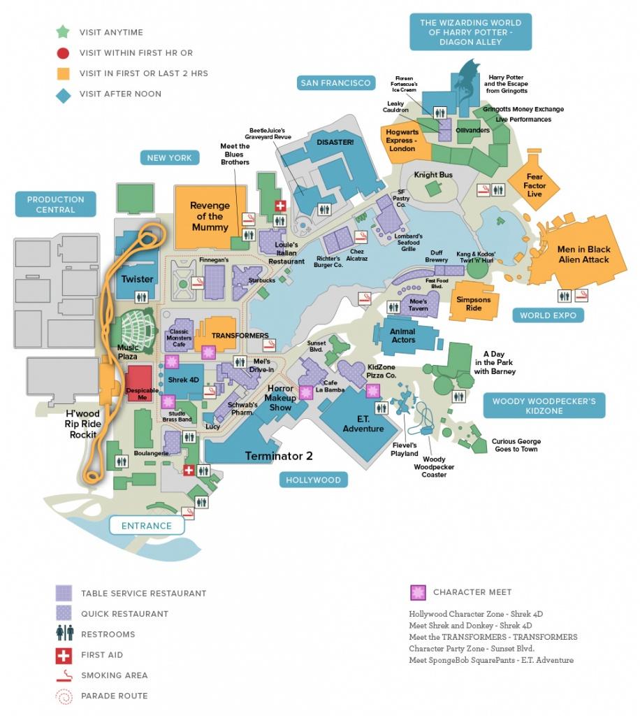 Universal & Seaworld Orlando Touring Plans - Orlando Florida Attractions Map