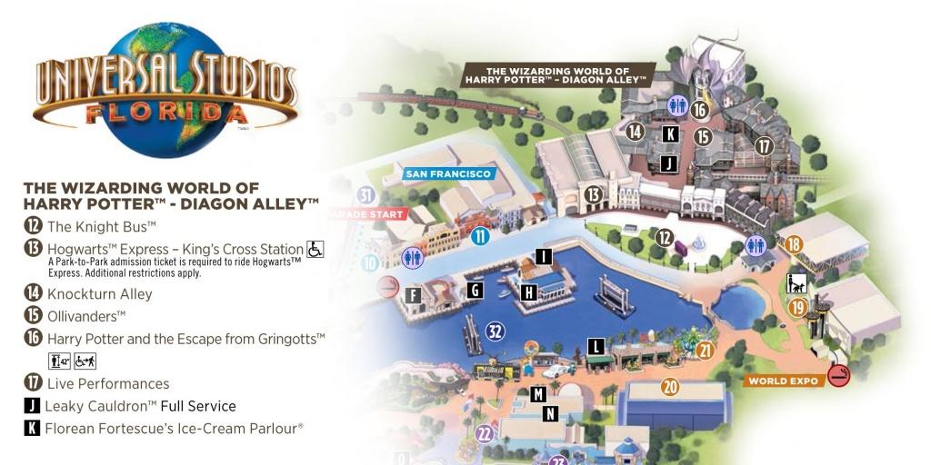 Universal Studios Florida: Diagon Alley (Map)   Potter Party - Universal Studios Florida Park Map