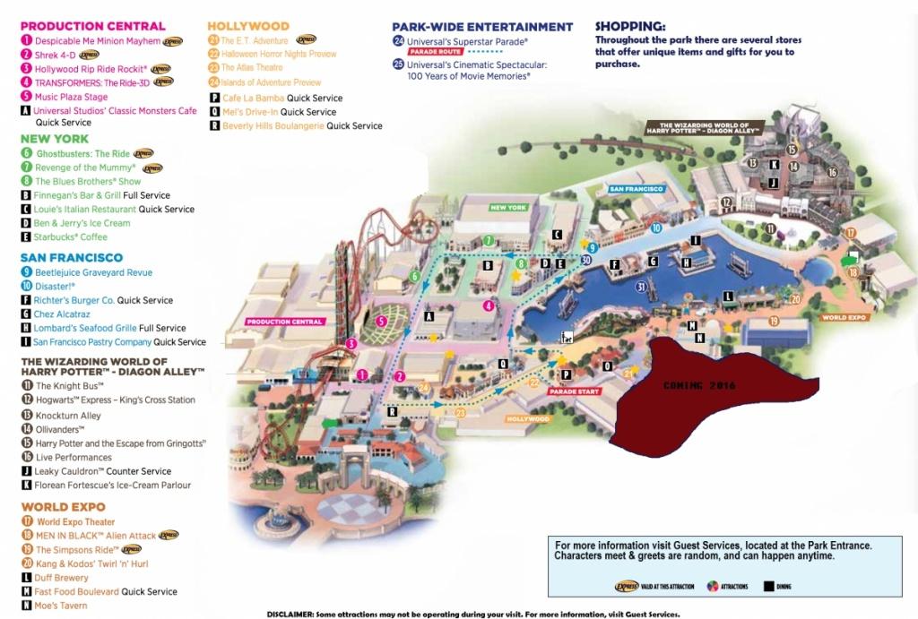 Universal Studios Florida Map 2015 And Travel Information   Download - Universal Studios Florida Map 2017