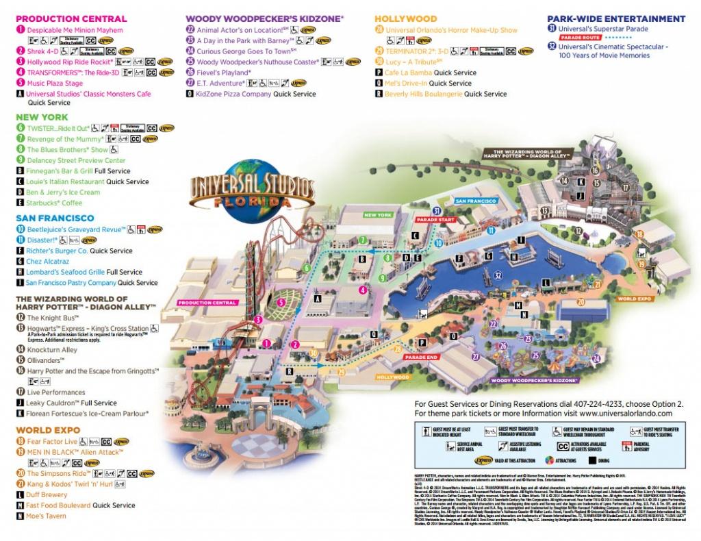 Universal Studios Florida Map 2016 | Autobedrijfmaatje - Universal Florida Park Map