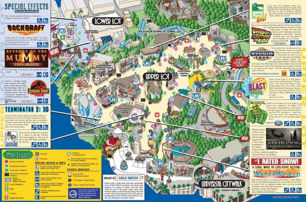 Universal Studios Hollywood General Admission Ticket In Los Angeles - Universal Studios Map California 2018