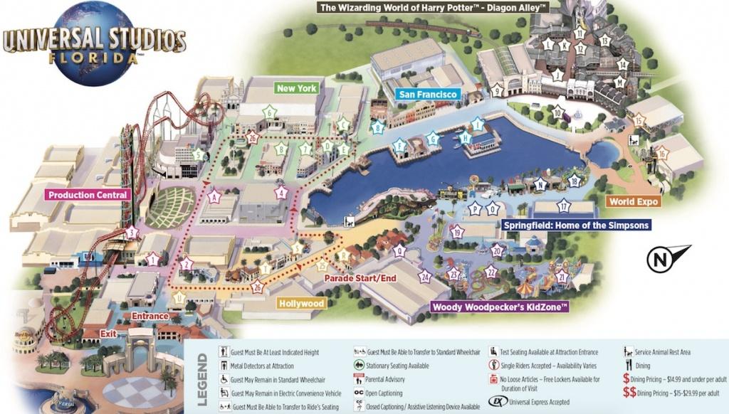 Universal Studios Orlando Map - Cyndiimenna - Universal Florida Park Map