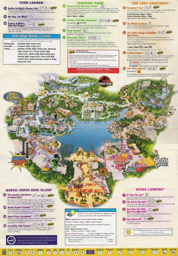 Universal Studios Orlando Map Of Area | Universal Studios Guide Map - Orlando Florida Universal Studios Map