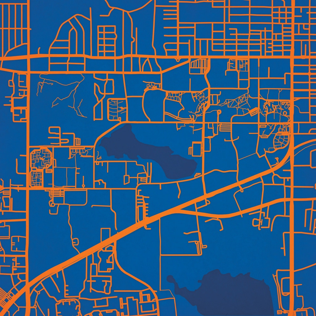 University Of Florida Campus Map Art - City Prints - Uf Campus Map Printable