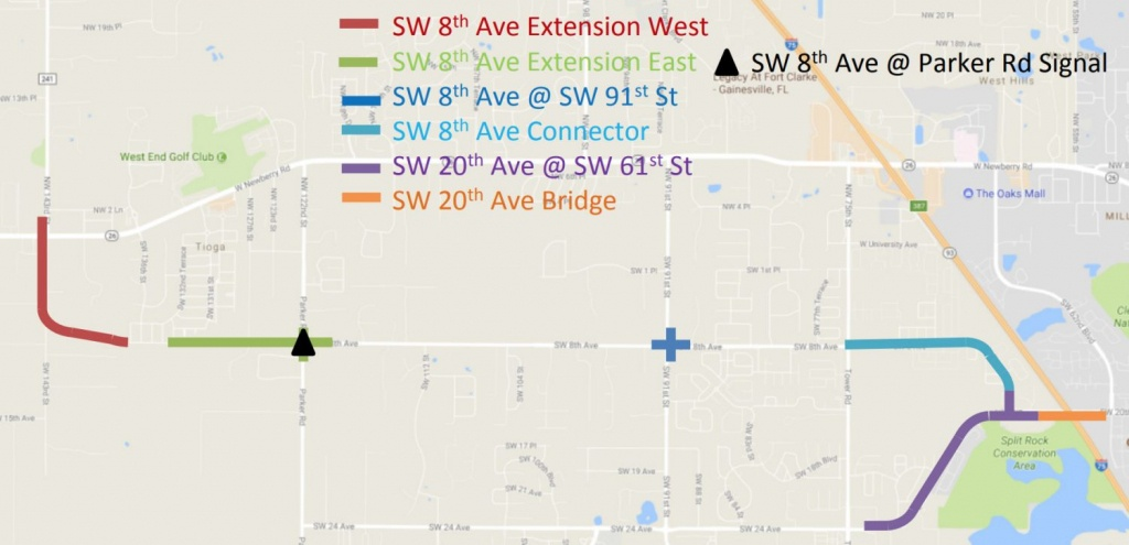 Untold Florida: Why Isn't Sw 8Th Avenue Near Tioga Open Yet? – Wuft News - Map Of Gainesville Florida Area