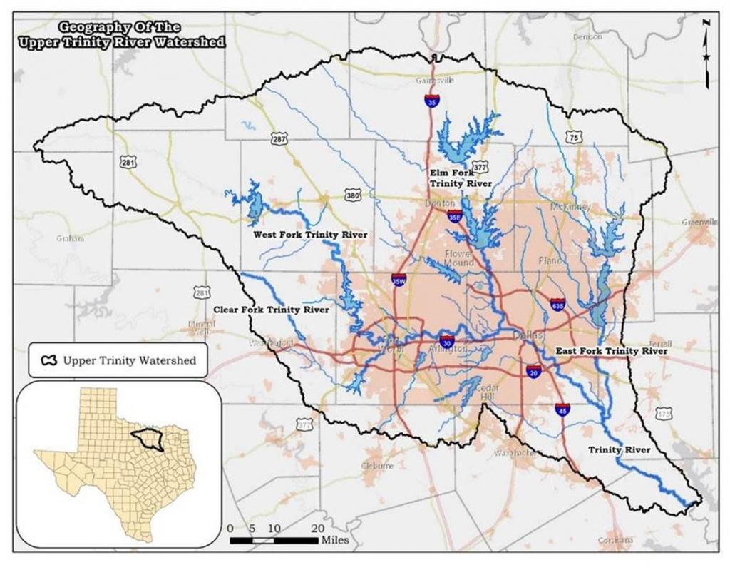 Upper Trinity River Watersheds: Protecting Recreational Uses - Tceq - Texas Creeks And Rivers Map