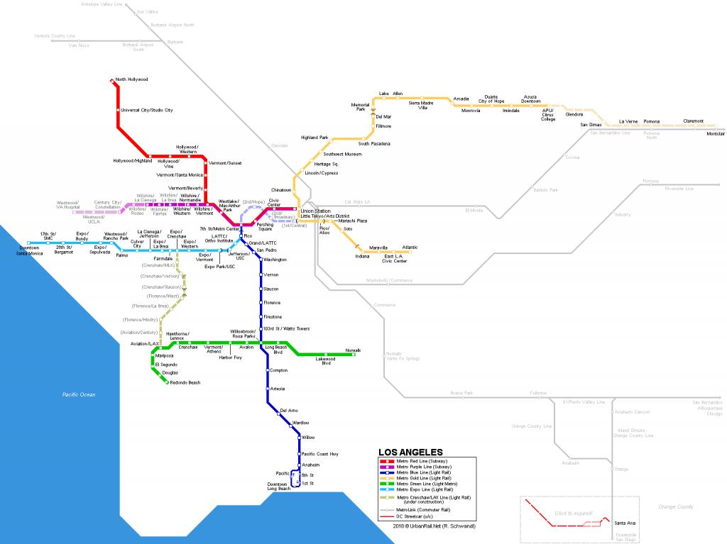 Urbanrail > America > Usa > California > Los Angeles - Metro - California Train Map