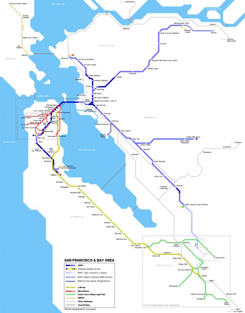 Urbanrail > North America > Usa > California > San Francisco - Map Of San Francisco Area California