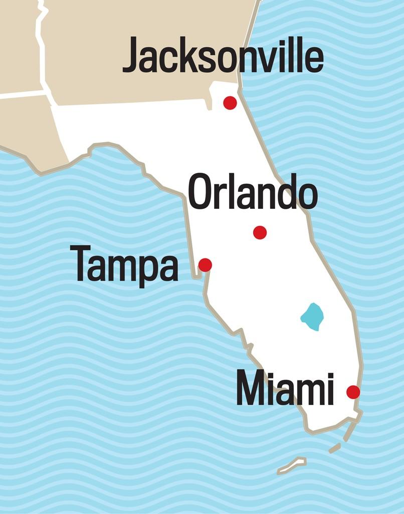 Us 5 Map 20 Deland Florida Map | Ageorgio - Deland Florida Map
