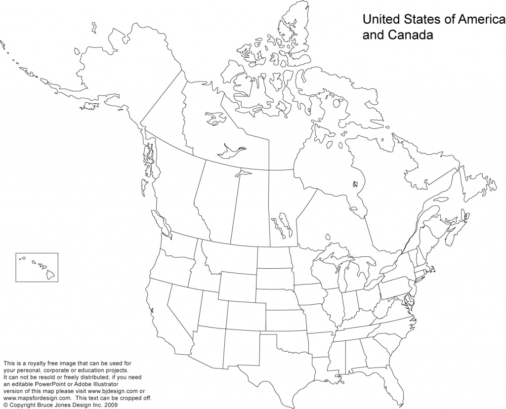 Us And Canada Printable, Blank Maps, Royalty Free • Clip Art - 8 1 2 X 11 Printable Map Of United States