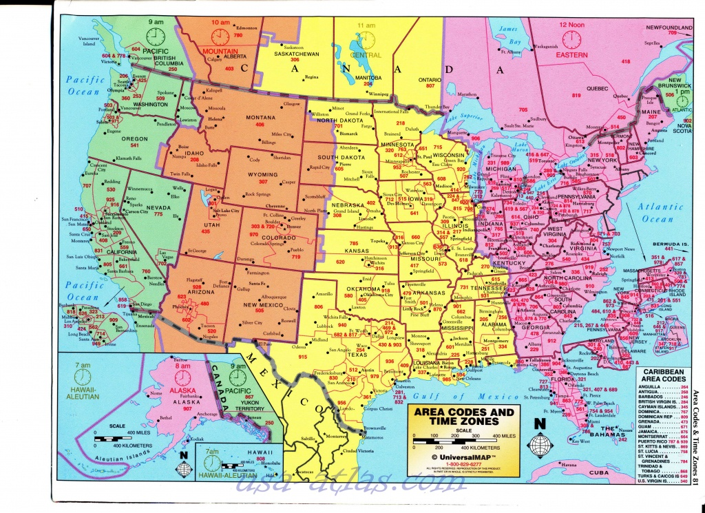 Us Area Code And Timezone Map Printable 786 Area Code 786 Map Time - Us Area Code Map Printable