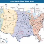 Us Area Code Map With Time Zones Usa Time Zone Map With States   Printable Us Timezone Map