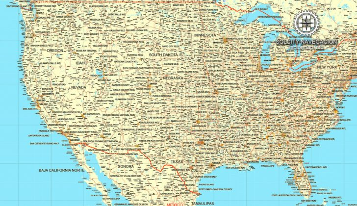 Printable Us Road Map