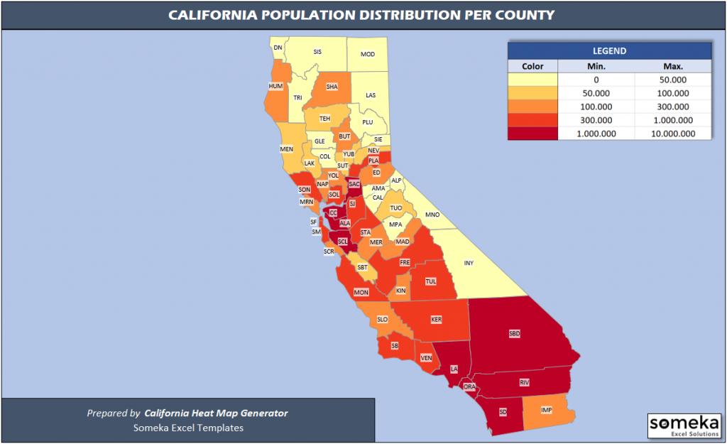 Us Counties Heat Map Generators - California Heat Map
