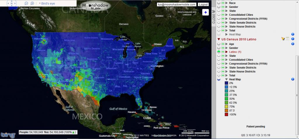 Us Latino Population Heat Map - Texas Population Heat Map