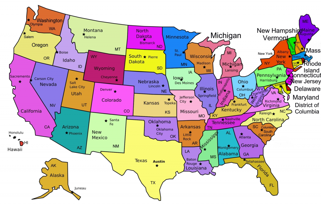 Us Map Abbreviated Labeled Supportsascom Awesome Us Map States - Printable State Abbreviations Map