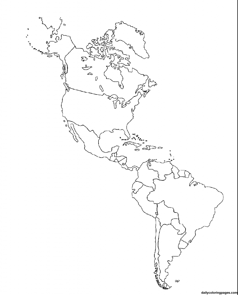 Us Map Coloring   Social Studies Ideas~Ed   America Outline, South - Printable Map Of North And South America