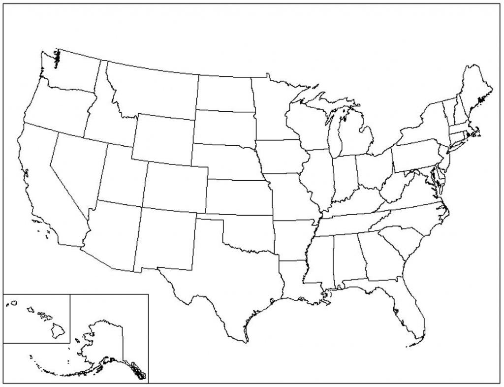 Us Map Printable Pdf Blank Us State Map Printable Printable United - Blank Printable Usa Map