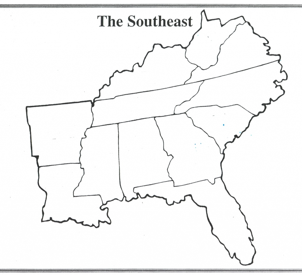 Us Map Quiz States And Capitals Us Southeast Region Blank Map - 50 States And Capitals Map Quiz Printable