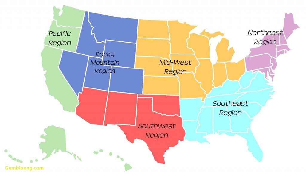 Us Map Southeast Printable Map Of Se Usa 1 Inspirational Us Regions - Printable Us Map For Kids