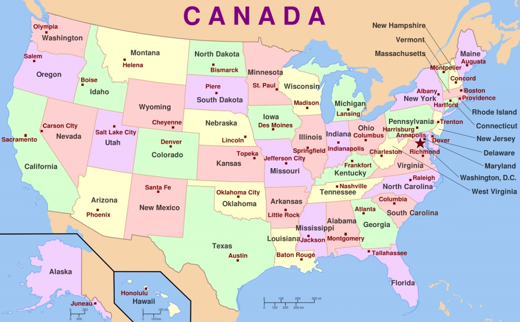 Us Map State And Capitals - Iloveuforever - State Capital Map Printable