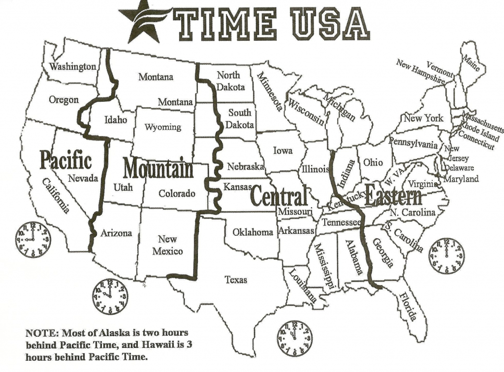 Us Map Time Zones Current Time Map Unique Printable Us Timezone Map - Printable Us Time Zone Map With Cities