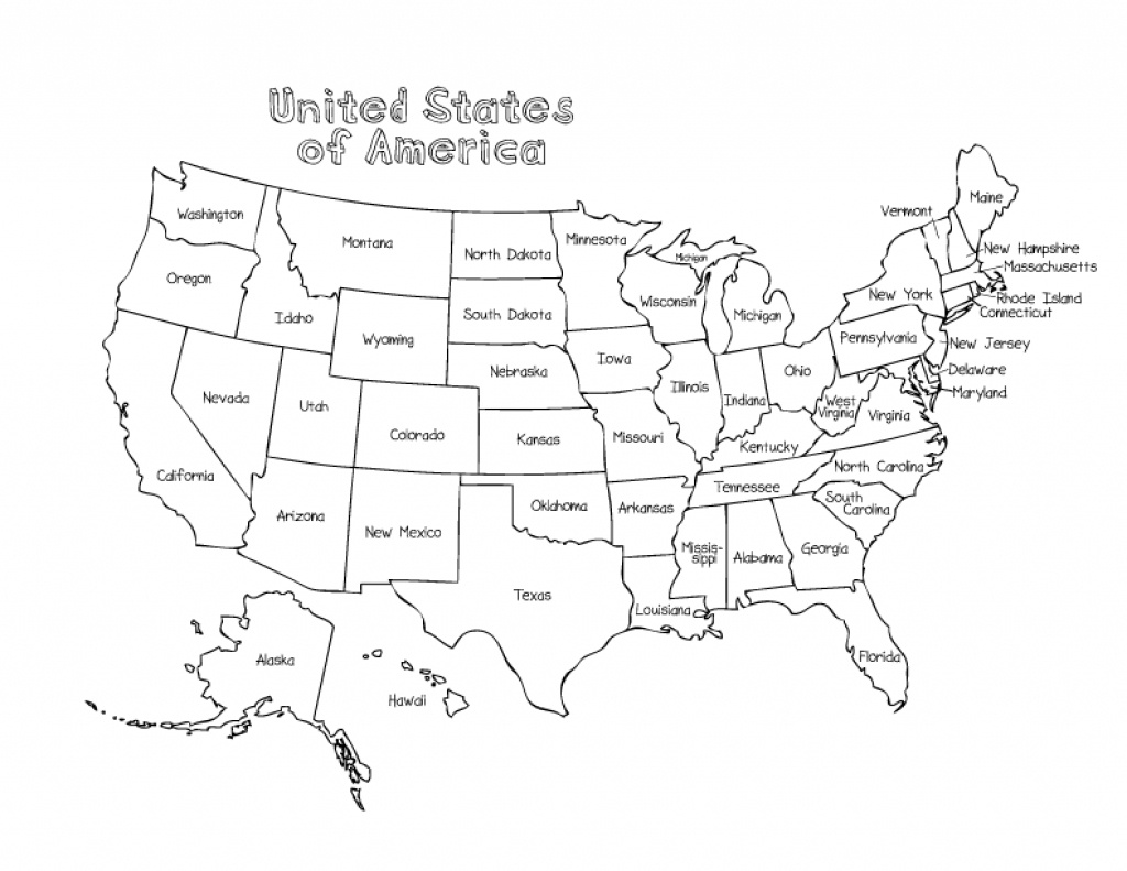United States Color Map Printable | Printable Maps