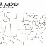 Us Map Worksheet Printable | Travel Maps And Major Tourist   Blank Us Map With Capitals Printable