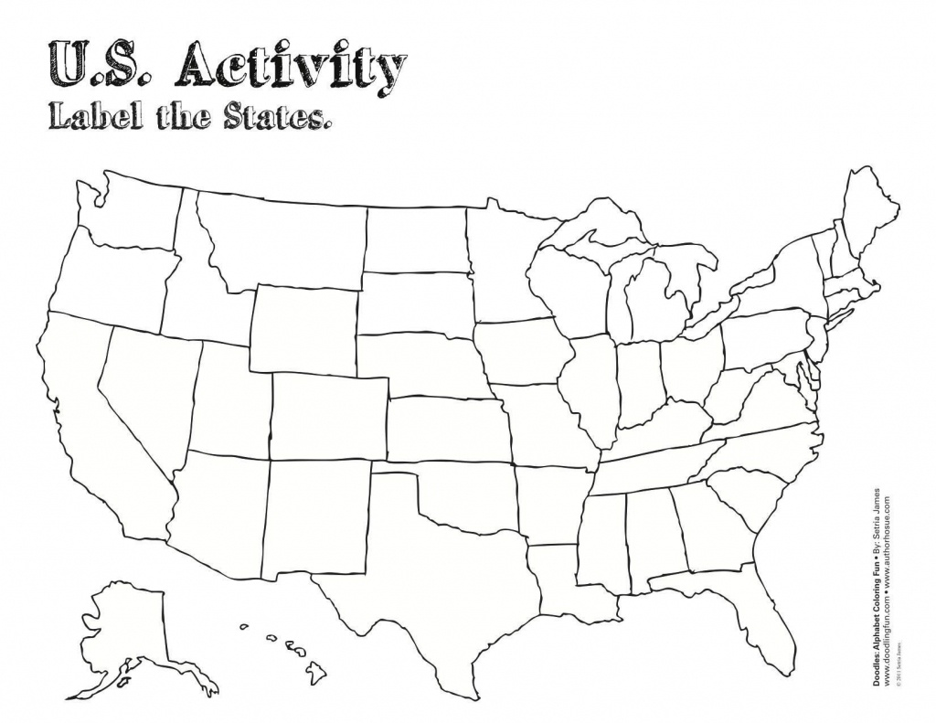 Us Map Worksheet Printable | Travel Maps And Major Tourist - Blank Us Map With Capitals Printable