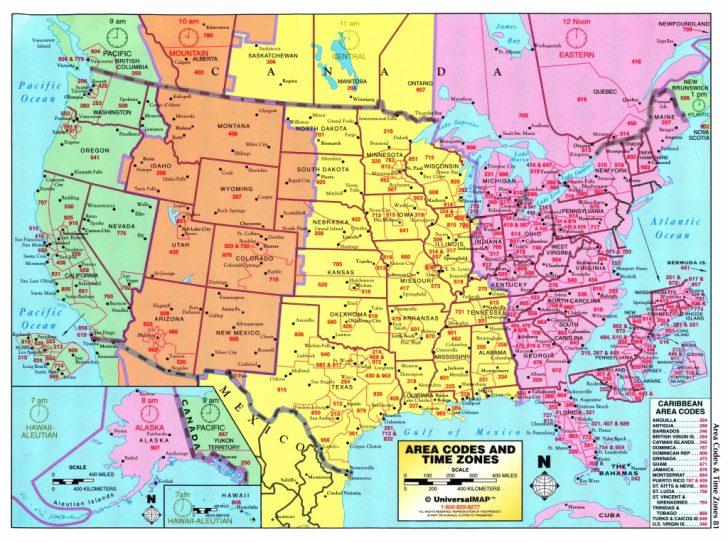 Printable Usa Time Zone Map
