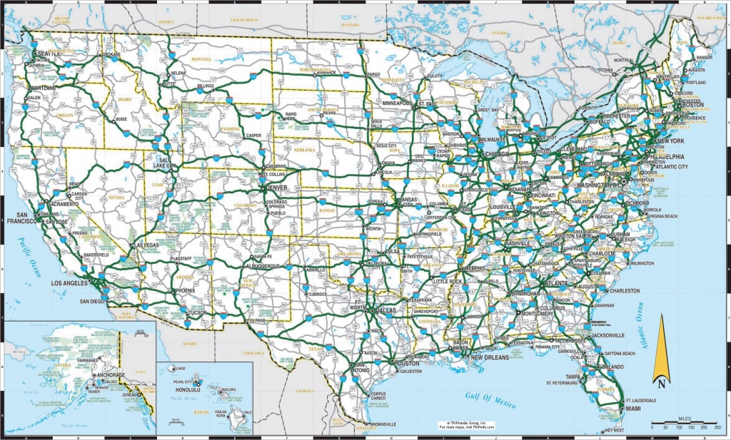 Us Maps With States And Cities And Highways |  Detailed Highways - Printable Us Road Map