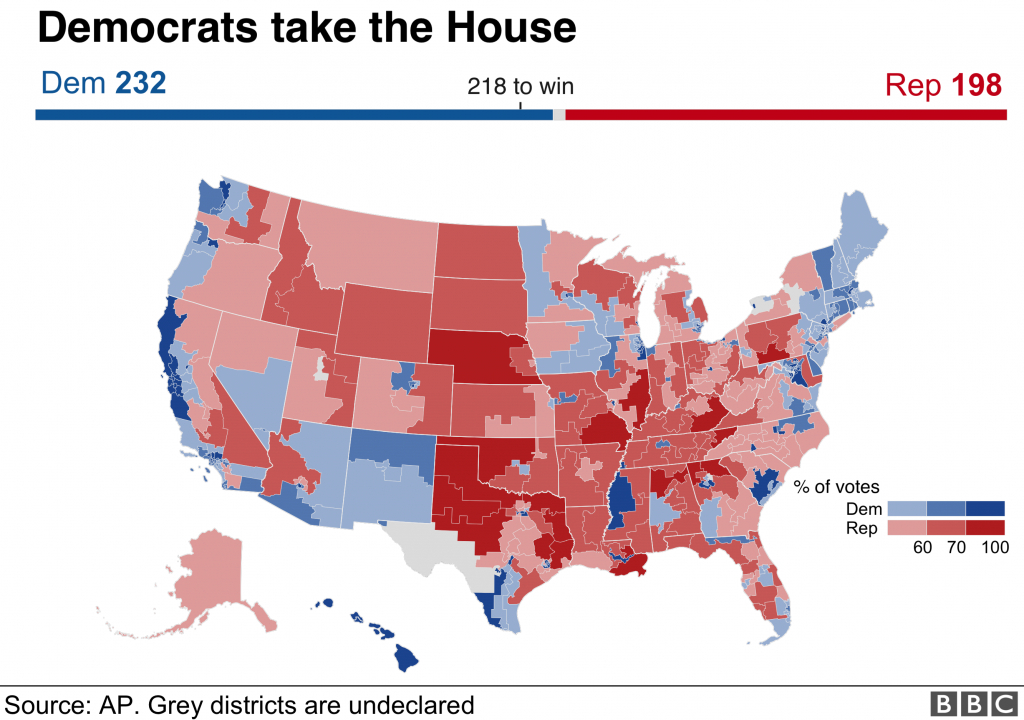 Us Mid-Term Election Results 2018: Maps, Charts And Analysis - Bbc News - Texas State Representatives Map